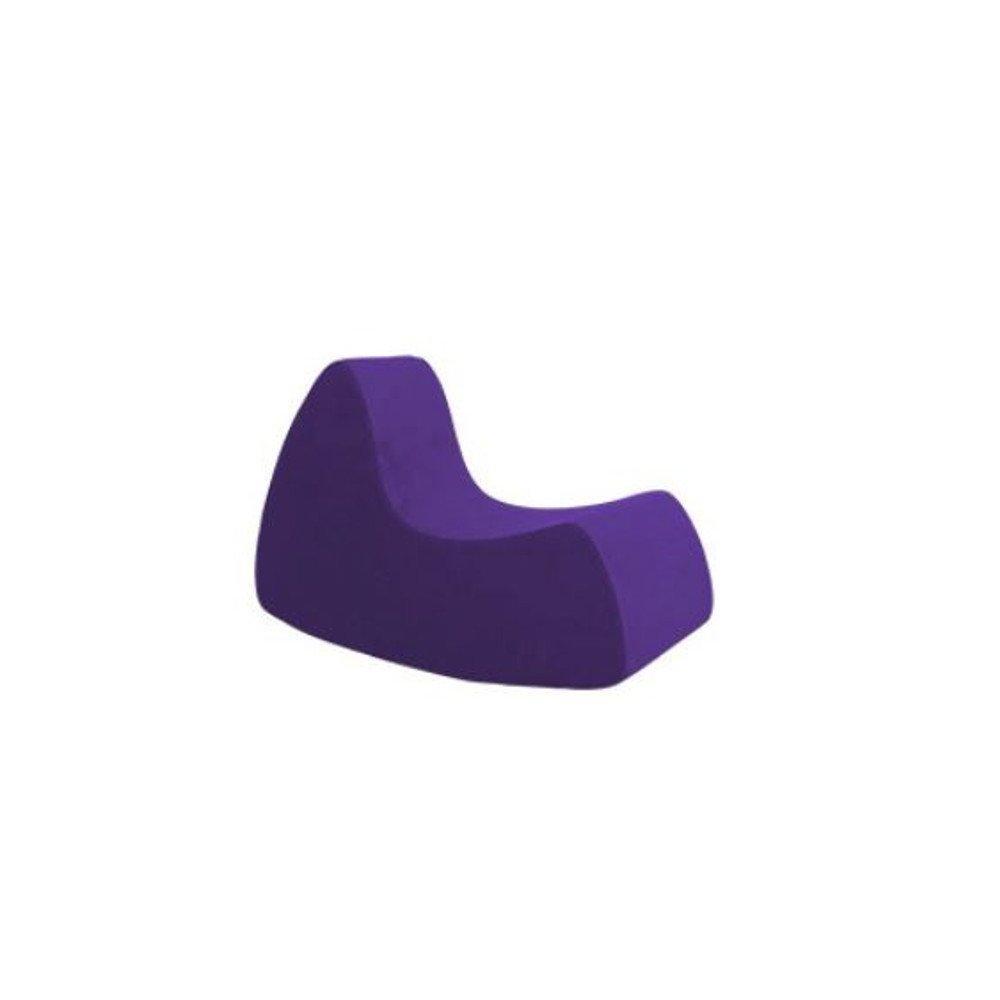 Fauteuil à bascule design GRAND PRIX grand modèle en microfibre mauve  SOFTLINE
