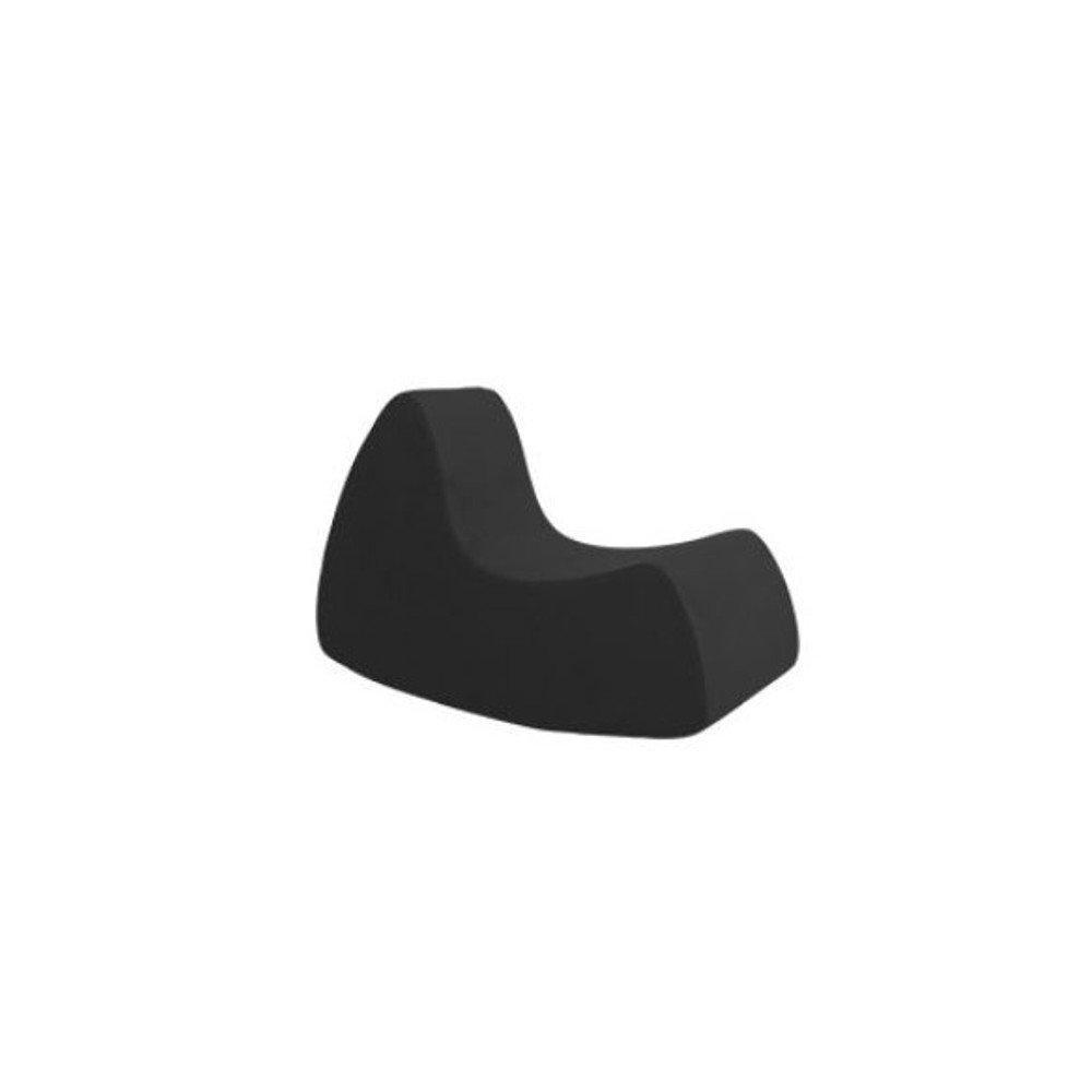 Fauteuil à bascule design GRAND PRIX grand modèle en microfibre noir  SOFTLINE