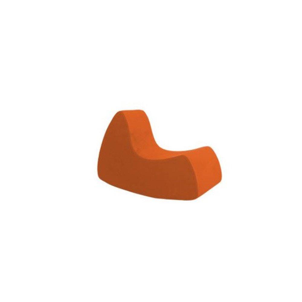 Fauteuil à bascule design GRAND PRIX grand modèle en microfibre orange  SOFTLINE