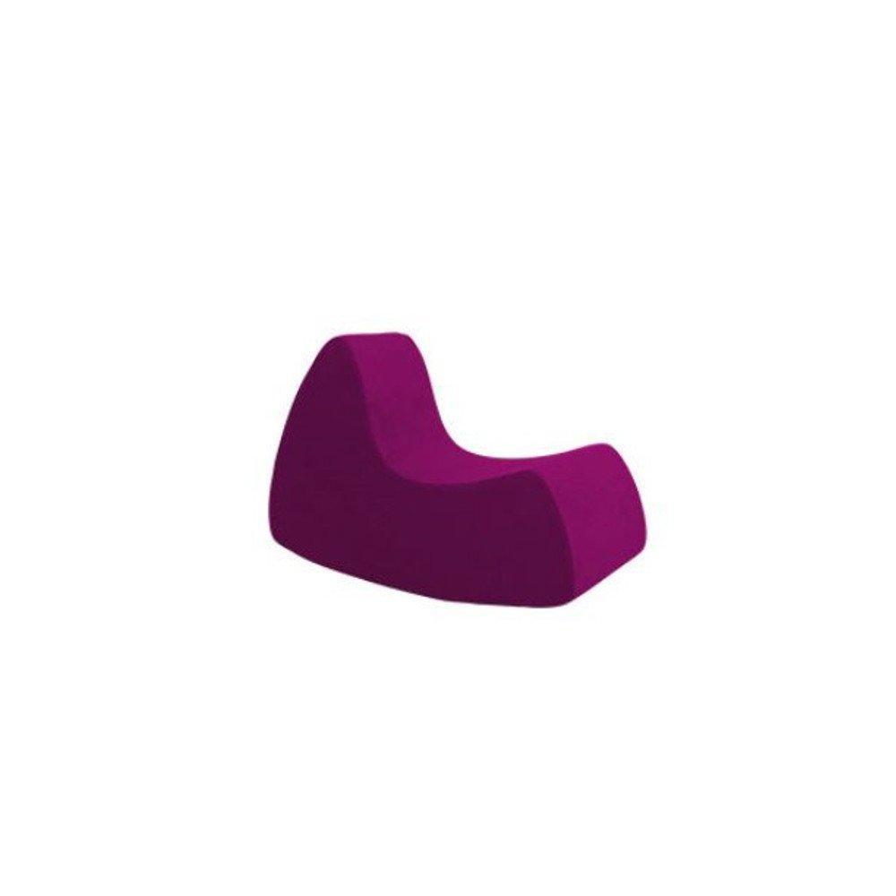 Fauteuil à bascule design GRAND PRIX grand modèle en microfibre prune  SOFTLINE