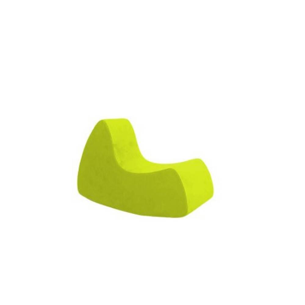 Fauteuil à bascule design GRAND PRIX grand modèle en microfibre vert anis  SOFTLINE
