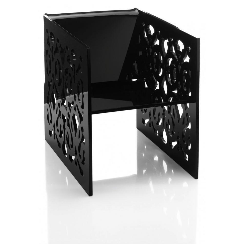 chaises meubles et rangements grand soir dentelle fauteuil noir plexi design acrila inside75. Black Bedroom Furniture Sets. Home Design Ideas