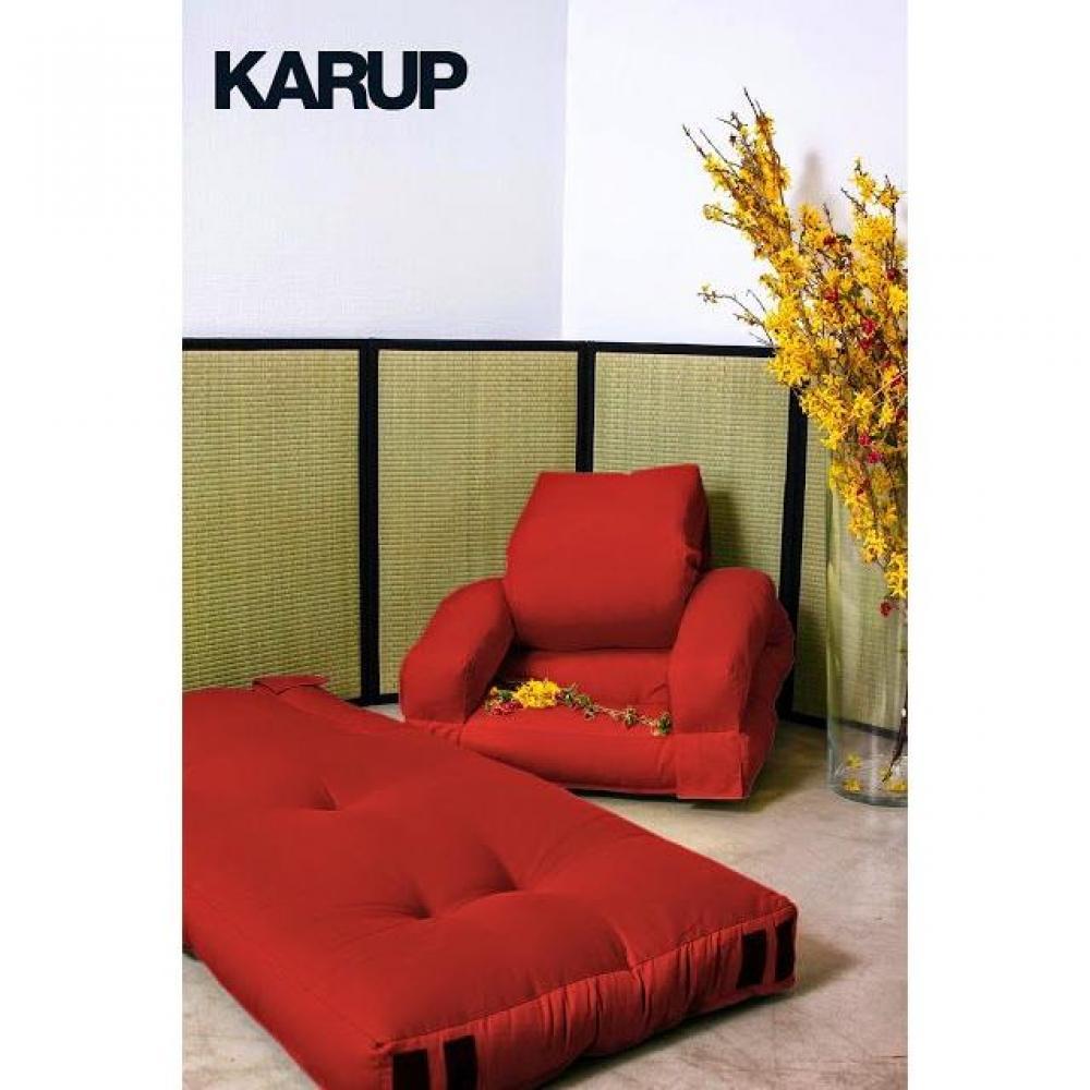 fauteuils convertibles fauteuil enfant lit hippo futon rouge couchage 65 140 12cm inside75. Black Bedroom Furniture Sets. Home Design Ideas