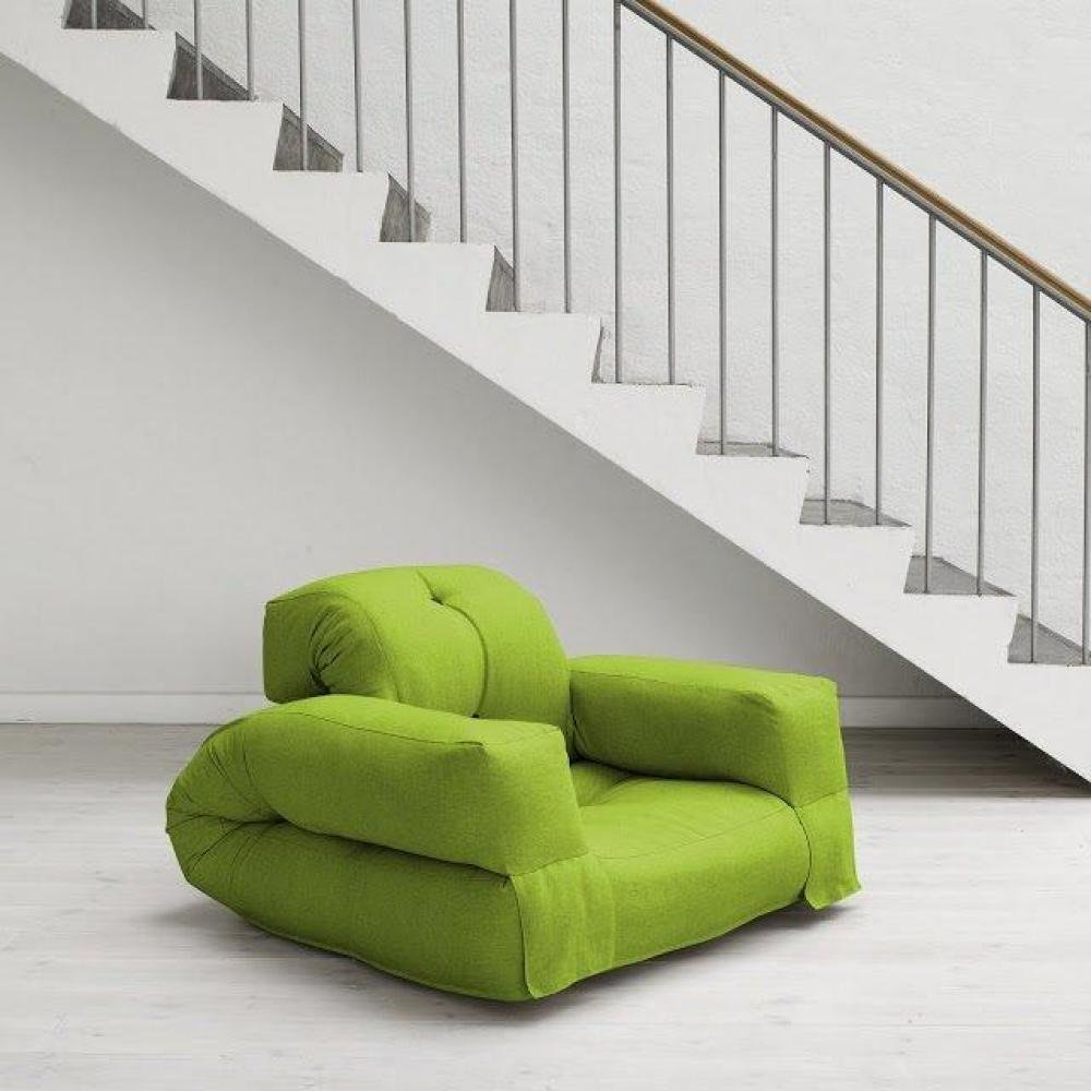 fauteuils convertibles canap s et convertibles fauteuil lit hippo futon vert lime couchage 90. Black Bedroom Furniture Sets. Home Design Ideas