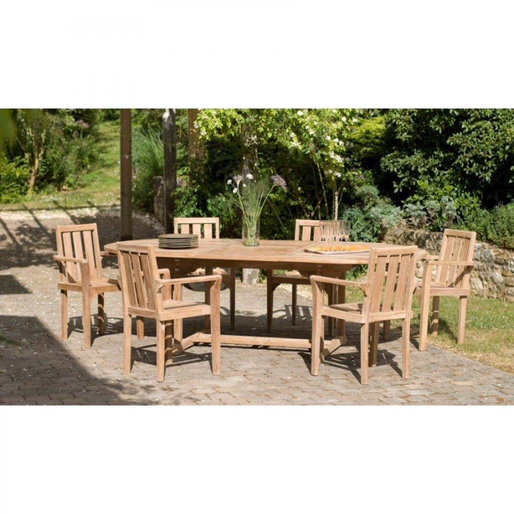 Chaises meubles et rangements lot de 2 fauteuils de - Table de jardin ovale extensible fort de france ...