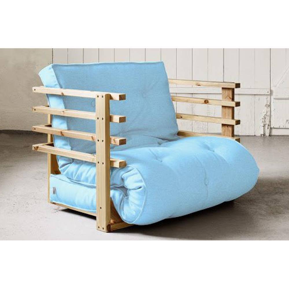 fauteuils convertibles canap s et convertibles fauteuil lit en pin massif funk futon bleu. Black Bedroom Furniture Sets. Home Design Ideas