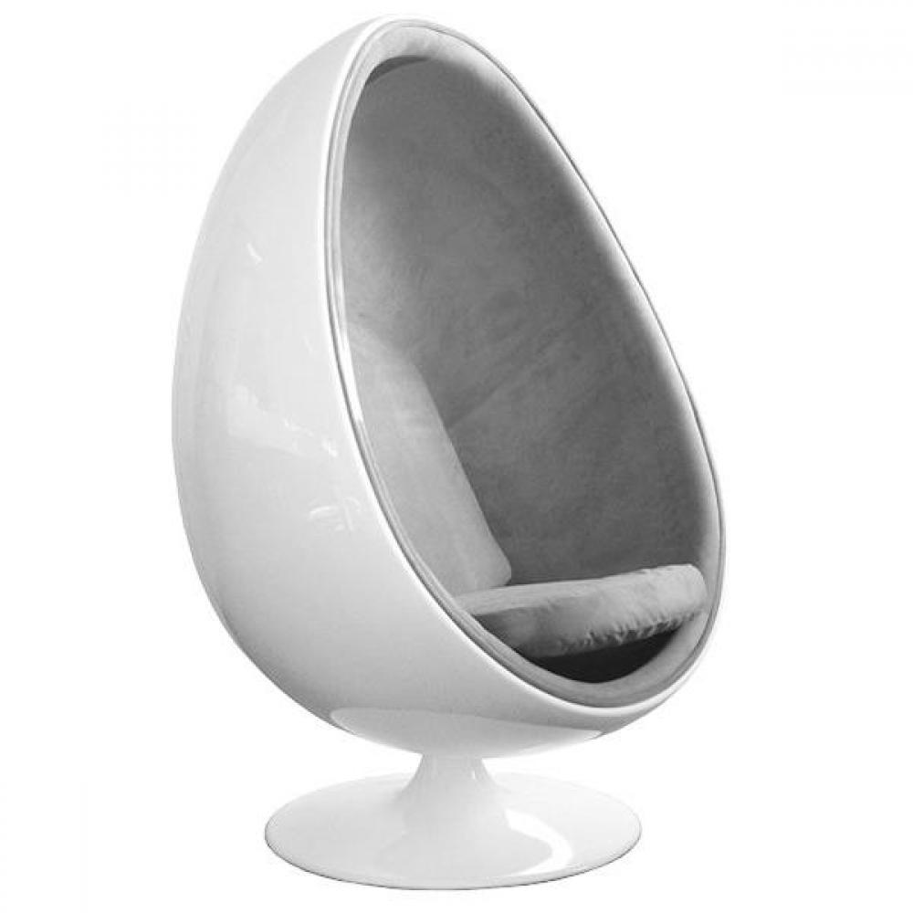 fauteuil oeuf design vintage au meilleur prix fauteuil pivotant oeuf egg chair coque blanche. Black Bedroom Furniture Sets. Home Design Ideas