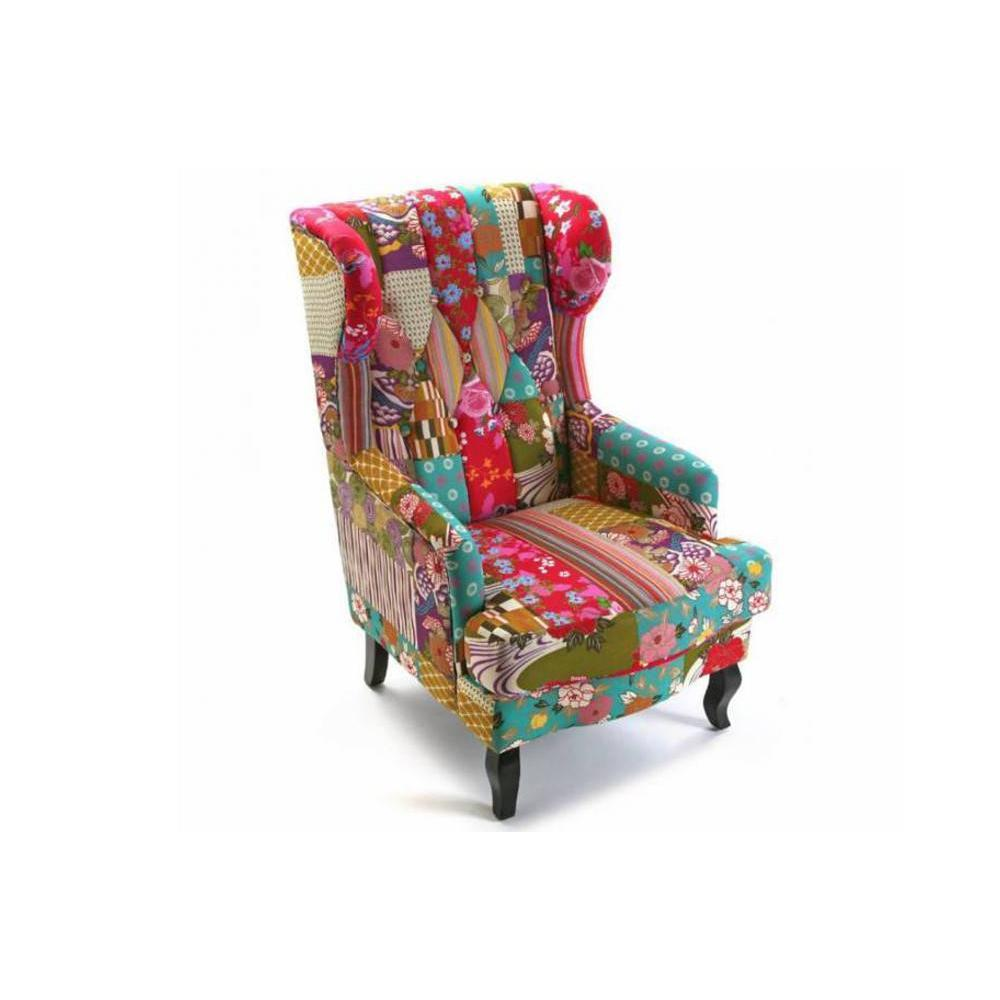 fauteuil design au meilleur prix fauteuil rio king patchwork inside75. Black Bedroom Furniture Sets. Home Design Ideas