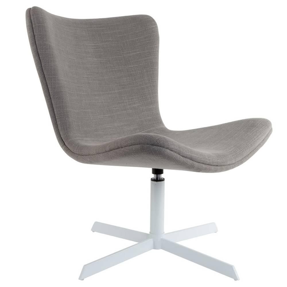 fauteuils design style scandinave au meilleur prix fauteuil pivotant jwell tissu gris inside75. Black Bedroom Furniture Sets. Home Design Ideas