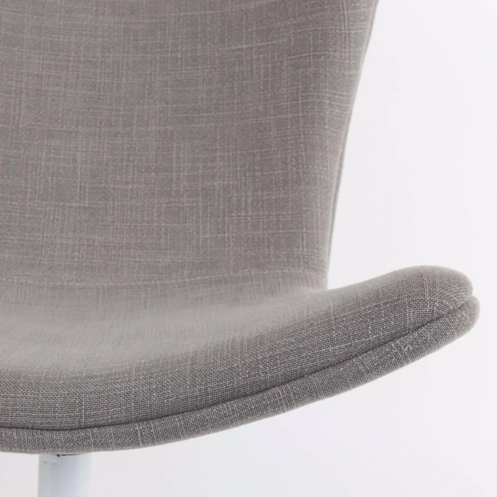 Fauteuils poufs design au meilleur prix fauteuil pivotant jwell tissu - Fauteuil pivotant gris ...
