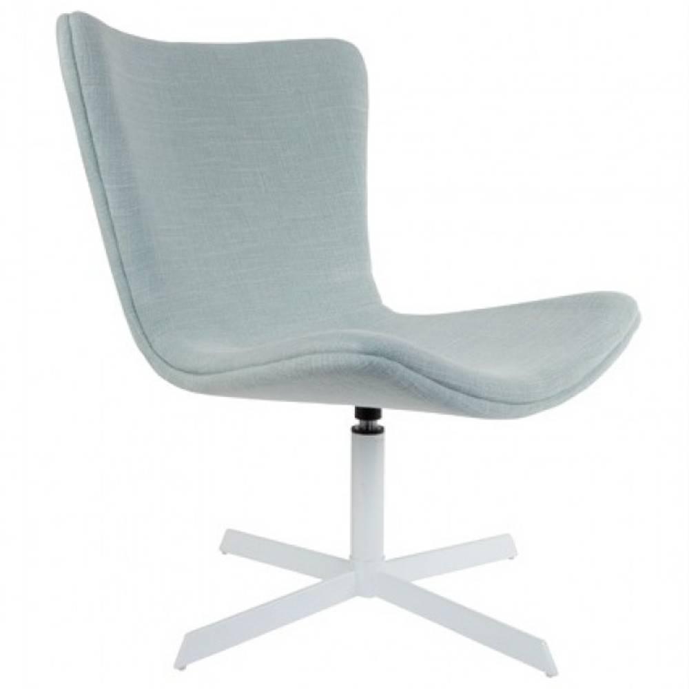 fauteuils design canap s et convertibles fauteuil pivotant kjell tissu bleu clair inside75. Black Bedroom Furniture Sets. Home Design Ideas