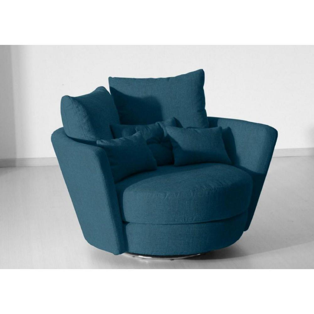fauteuils poufs design au meilleur prix fama fauteuil pivotant design mynest bleu inside75. Black Bedroom Furniture Sets. Home Design Ideas