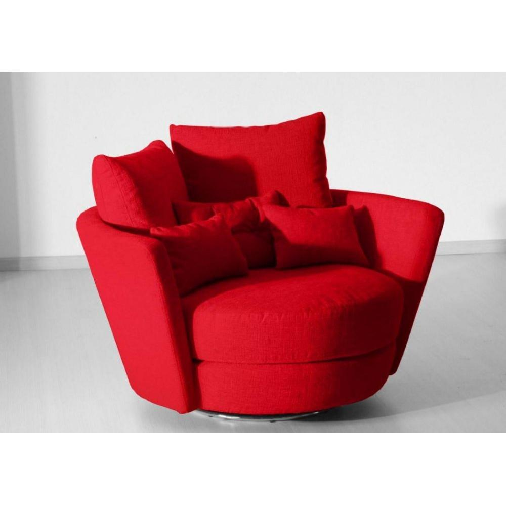 fauteuils poufs design au meilleur prix fama fauteuil pivotant design mynest rouge inside75. Black Bedroom Furniture Sets. Home Design Ideas