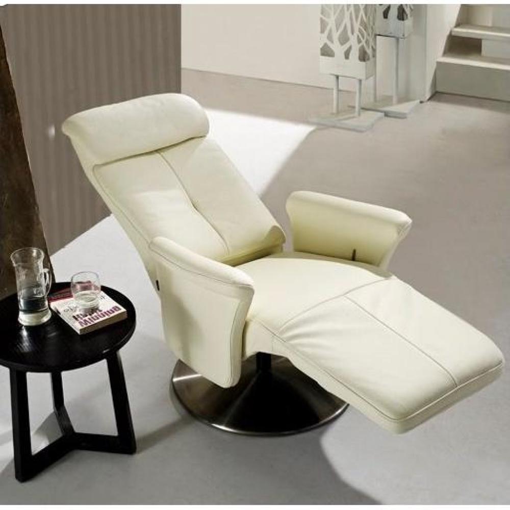Canap s rapido convertibles design armoires lit escamotables et dressing p - Fauteuil relax cuir blanc ...
