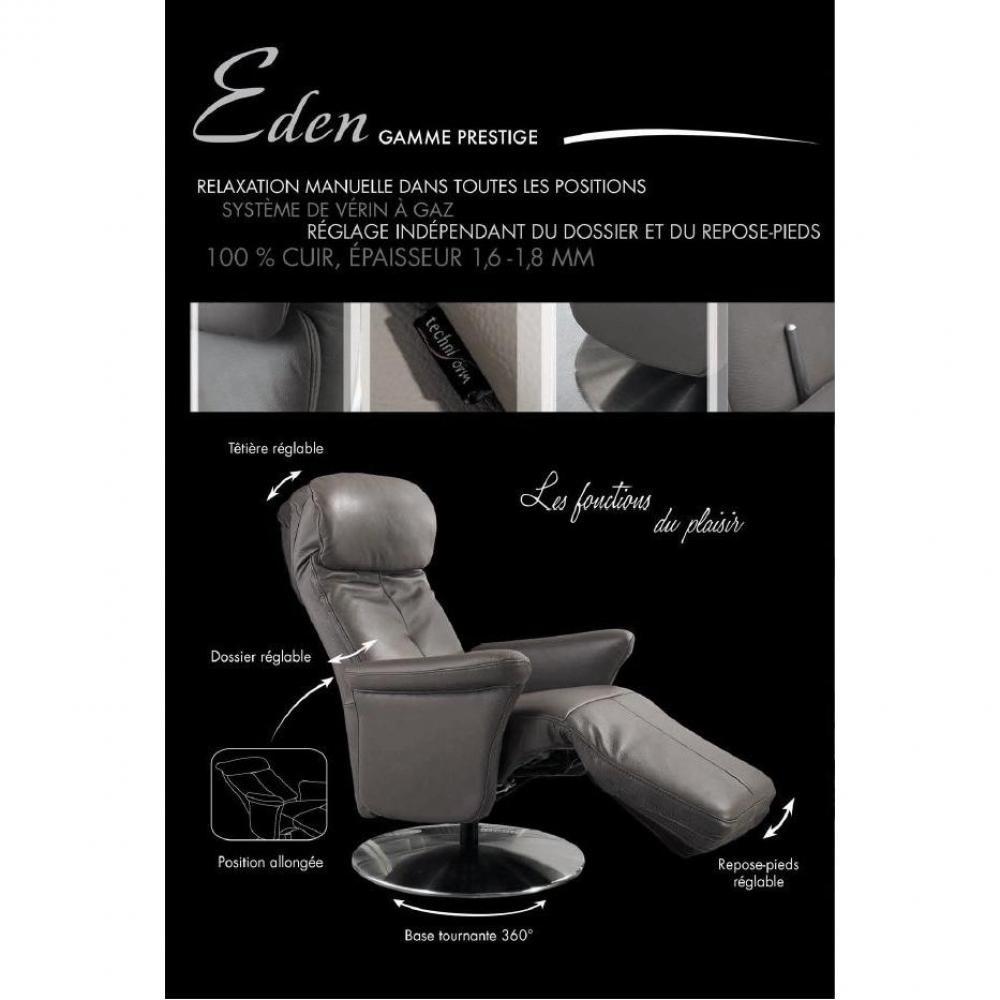canap relax lectrique manuel au meilleur prix adam fauteuil relax cuir vachette marron. Black Bedroom Furniture Sets. Home Design Ideas