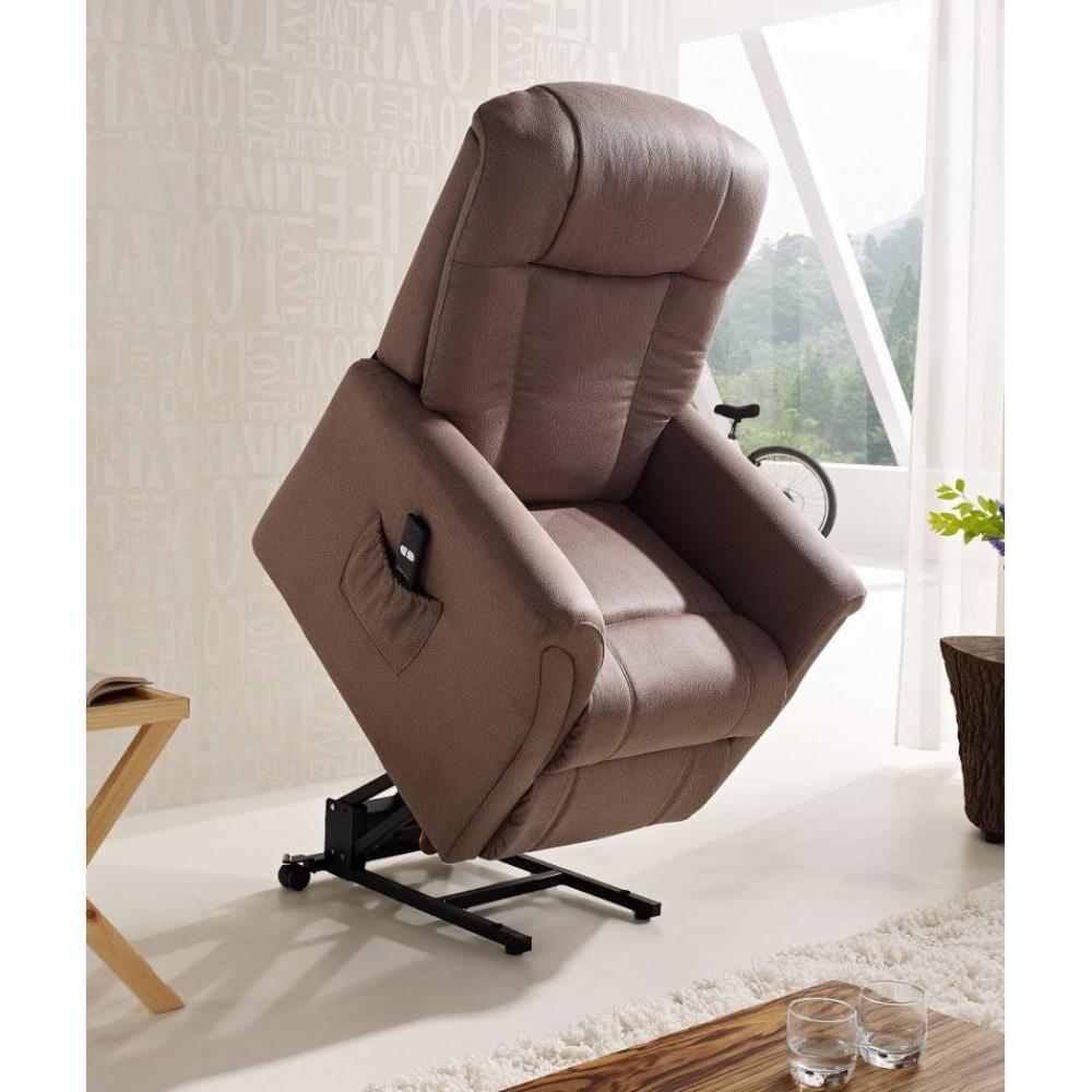 FREEDOM fauteuil relax et releveur électrique (mono-moteur) microfibre BOA marron cendré
