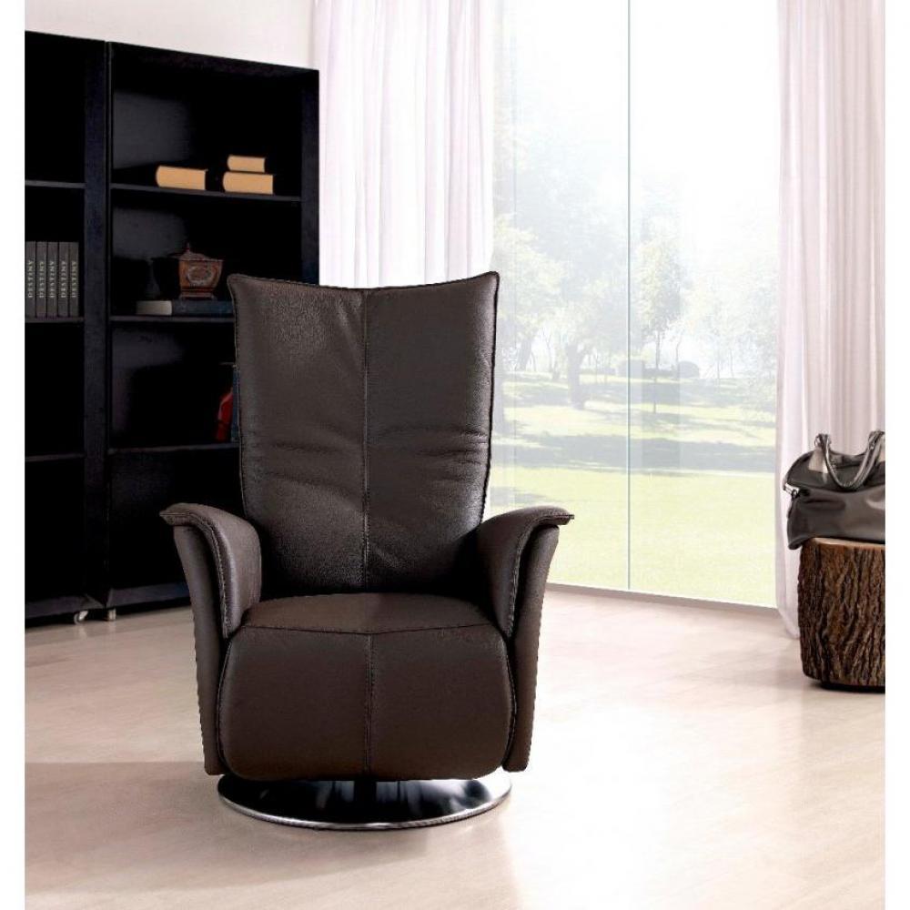 PREMIUM fauteuil relax électrique (bi-moteur) cuir vachette marron