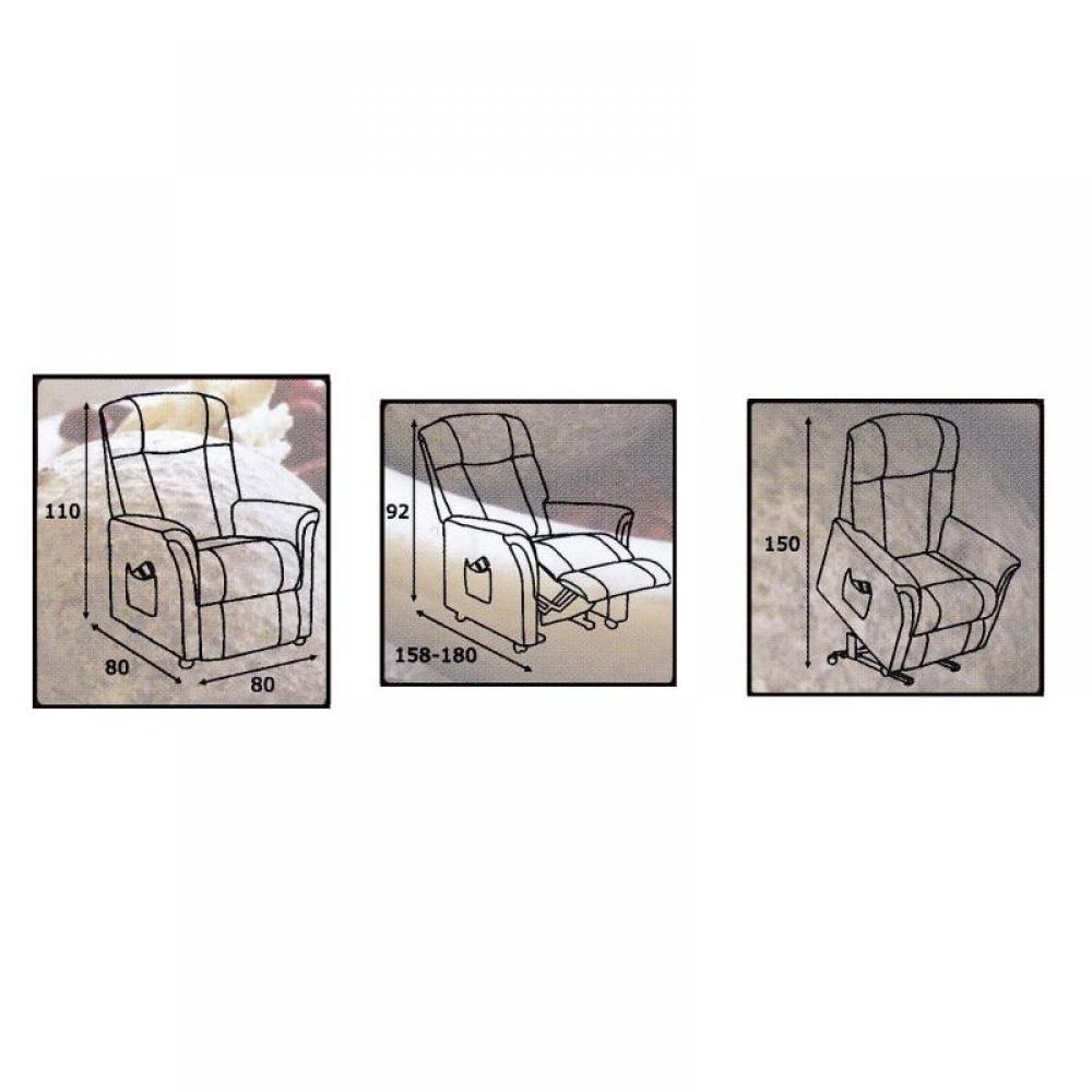 FREEDOM fauteuil relax et releveur électrique (bi-moteur) microfibre gris