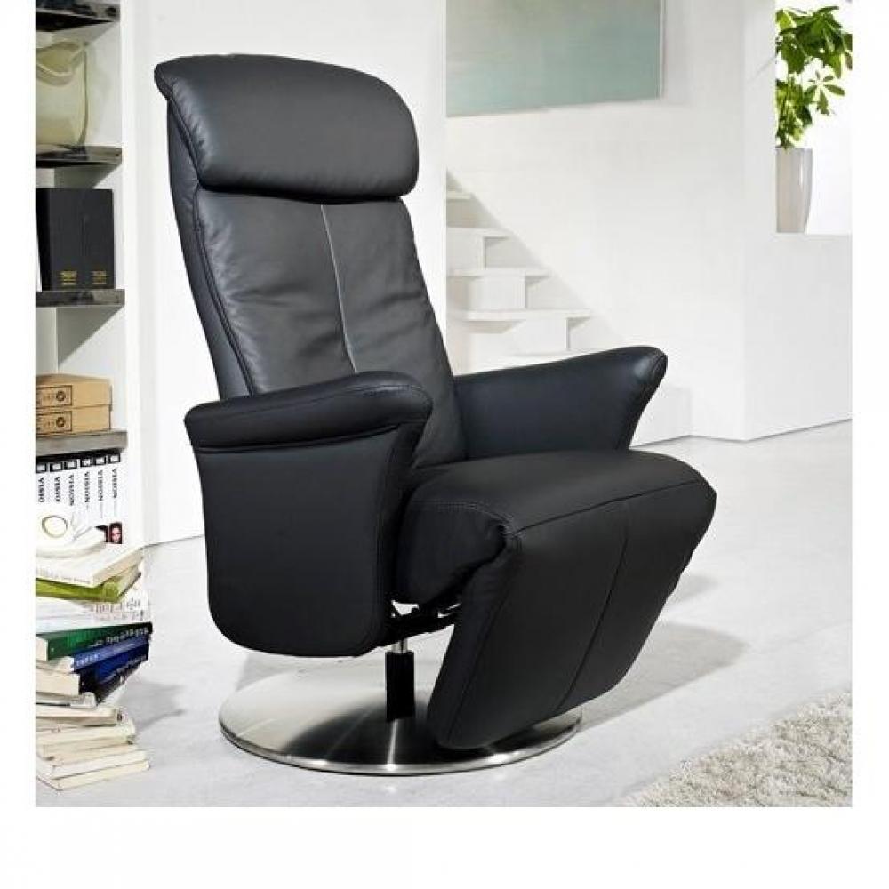 Canap relax lectrique manuel au meilleur prix adam fauteuil relax c - Fauteuil relax cuir noir ...