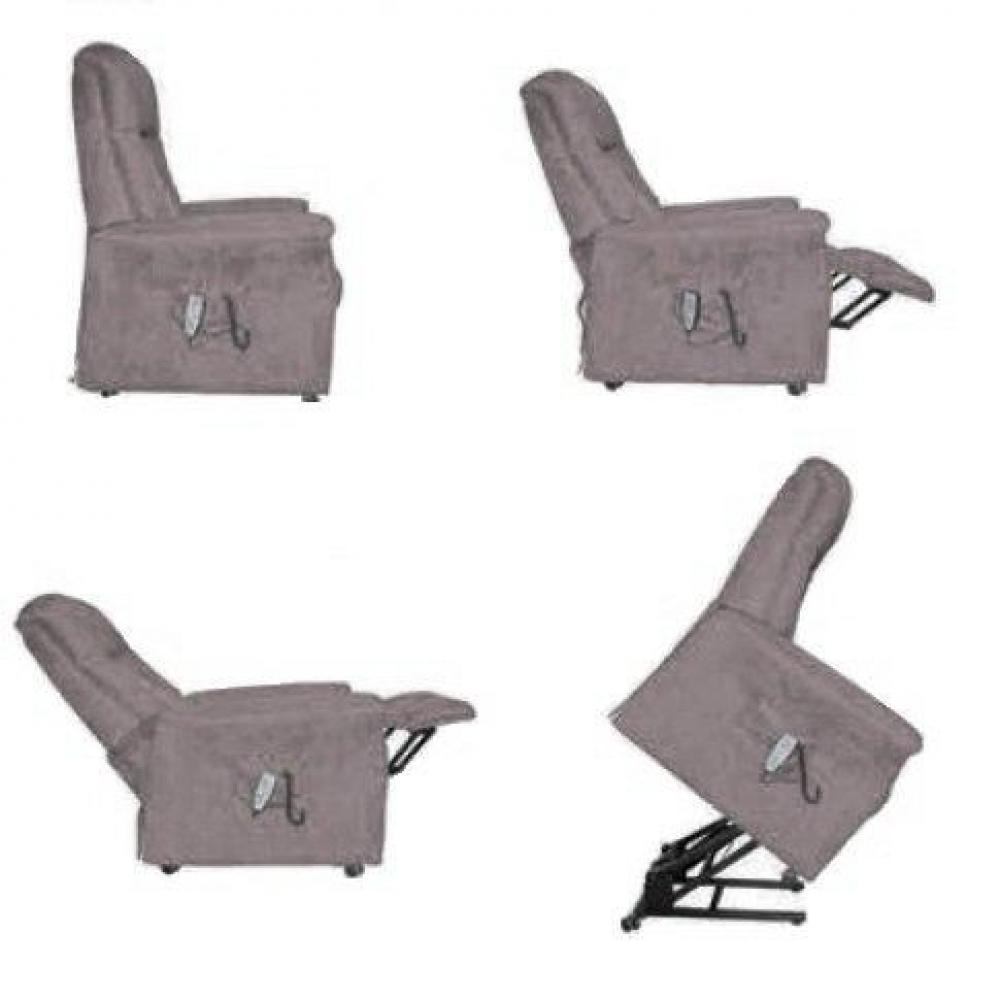 FREEDOM fauteuil relax et releveur électrique (bi-moteur) microfibre BOA gris
