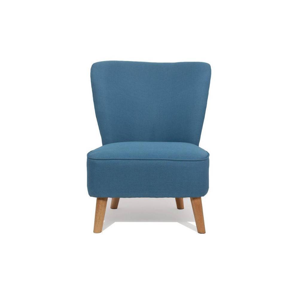 Fauteuil design au meilleur prix fauteuil scandinave s t bleu azur inside75 - Fauteuil bleu turquoise ...