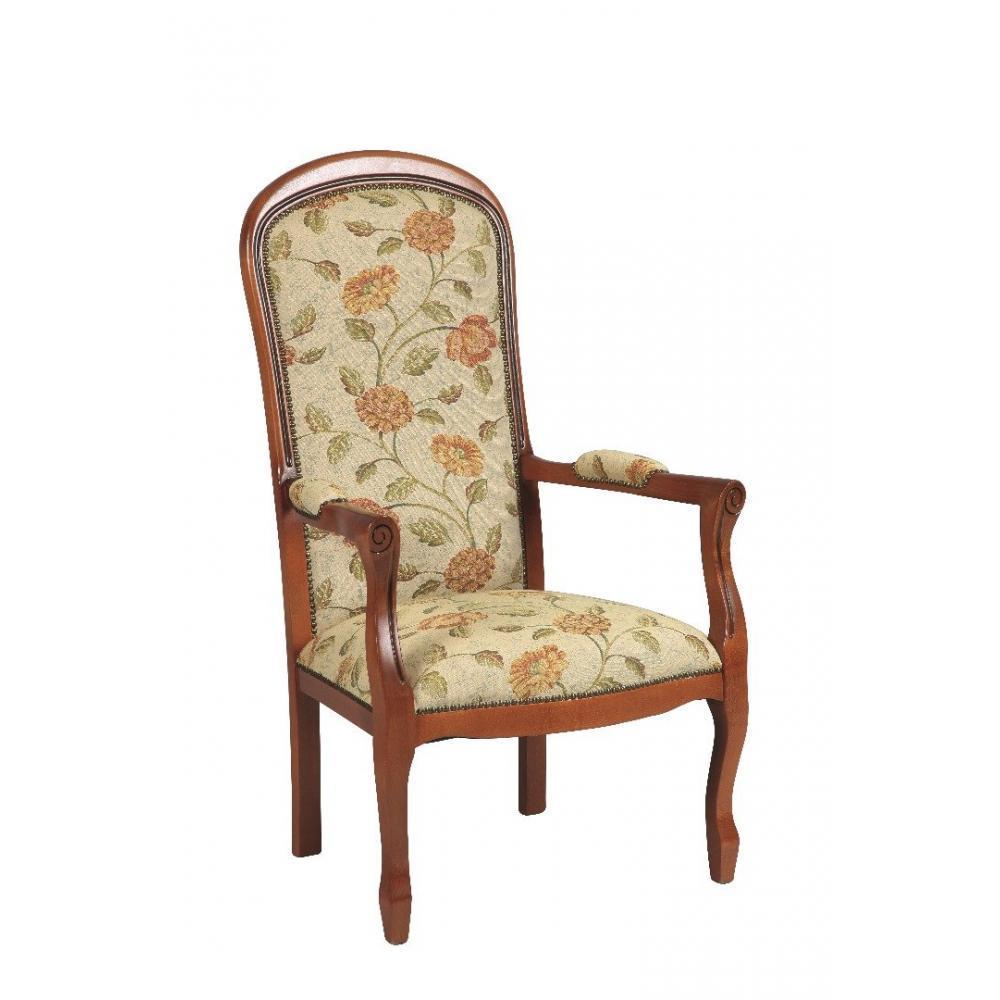 canap s convertibles ouverture rapido fauteuil voltaire merisier et tissu fleurs beige inside75. Black Bedroom Furniture Sets. Home Design Ideas