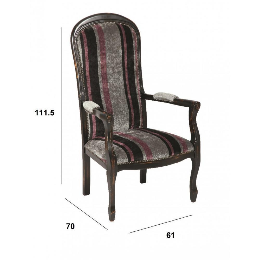 fauteuils design canap s et convertibles fauteuil voltaire en h tre laqu noir vieilli inside75. Black Bedroom Furniture Sets. Home Design Ideas