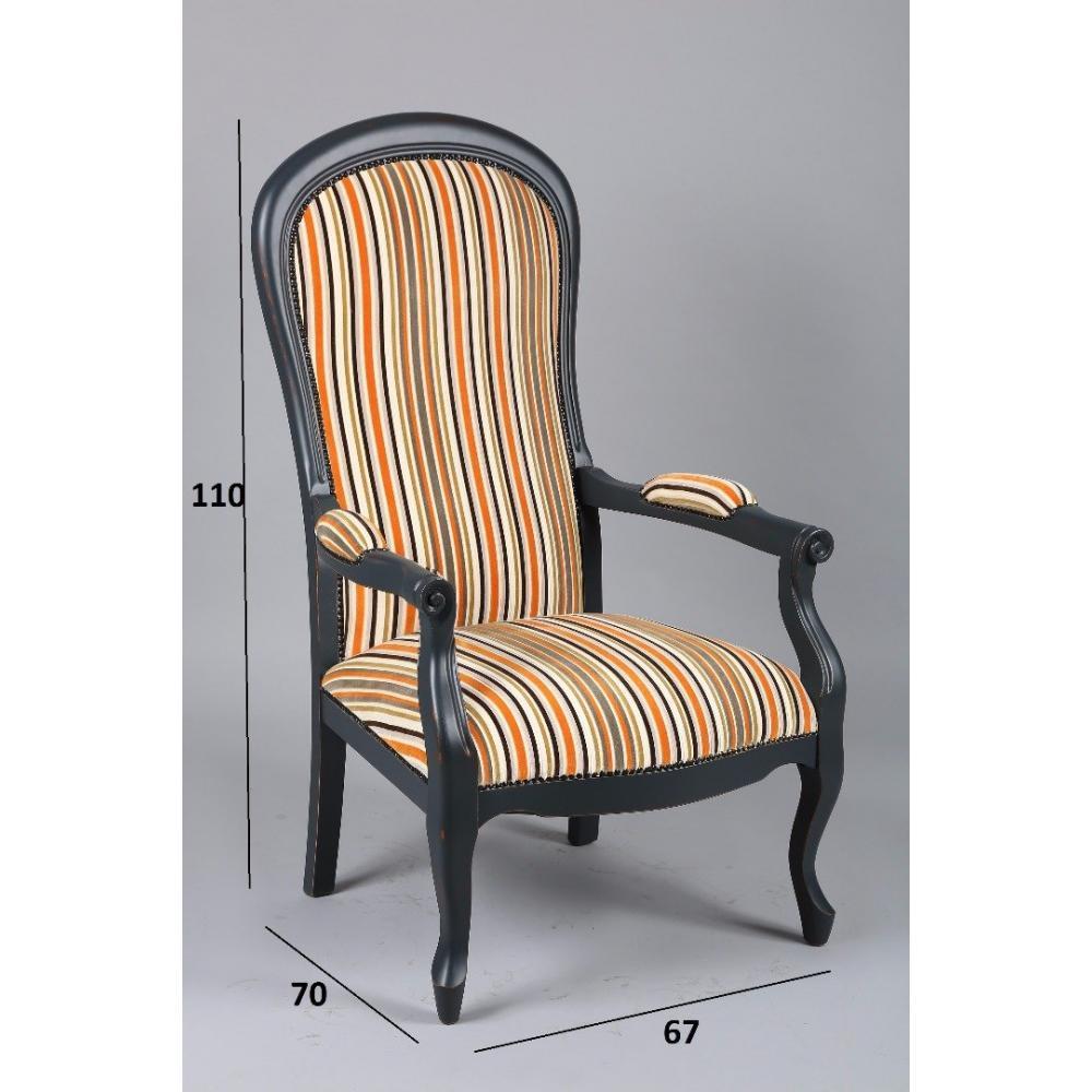 canap convertible au meilleur prix fauteuil voltaire gris vieilli et tissu rayures orange. Black Bedroom Furniture Sets. Home Design Ideas