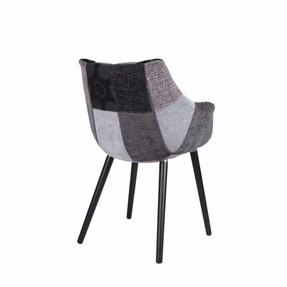 Beautiful Zuiver Fauteuil Twelve Patchwork Gris Et Noir With En