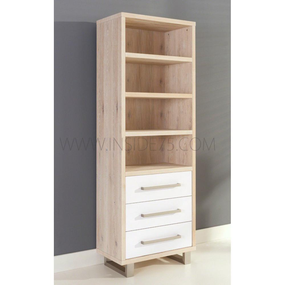 biblioth ques tag res meubles et rangements flora tag res en bois laqu es blanc brillant. Black Bedroom Furniture Sets. Home Design Ideas