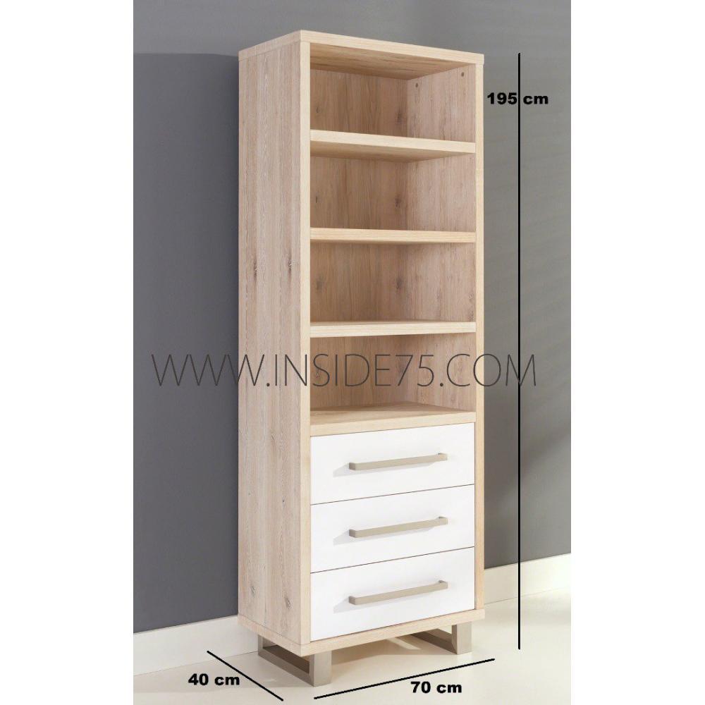 Biblioth ques tag res meubles et rangements flora tag res en bois laqu es - Etagere blanc laque ikea ...