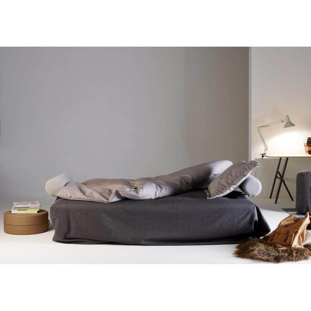 INNOVATION LIVING FUJI Clic-clac matelassé + accoudoirs convertible lit  200*140cm