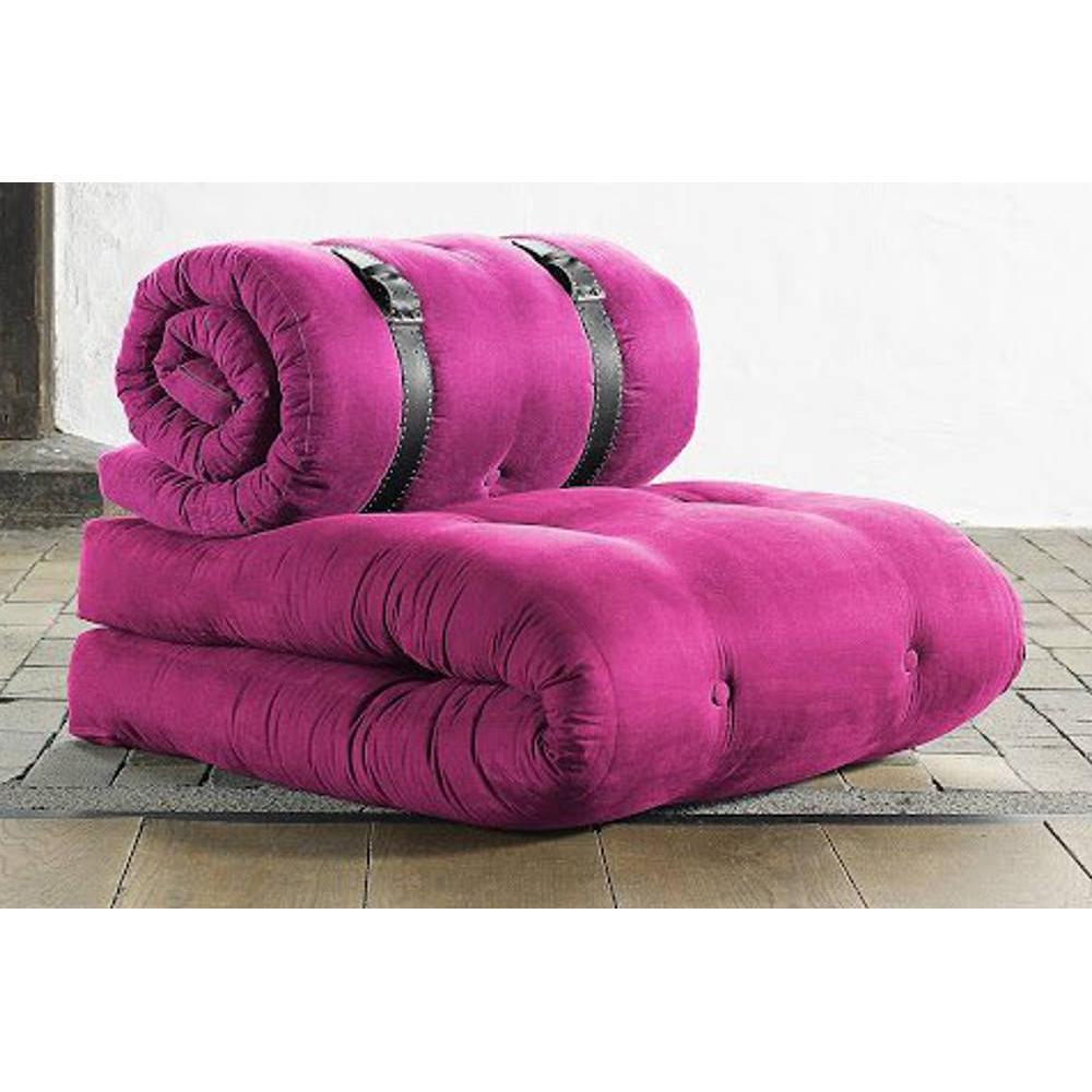 fauteuils et poufs canap s et convertibles chauffeuse buckle up futon rose couchage 70 200. Black Bedroom Furniture Sets. Home Design Ideas