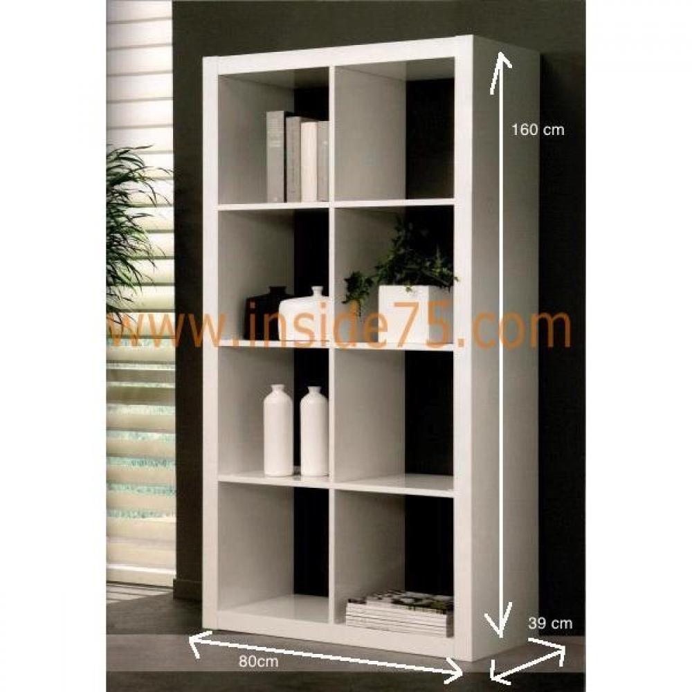 Biblioth ques tag res meubles et rangements gloss bibliotheque etagere laque blanc design for Bibliotheque design blanc
