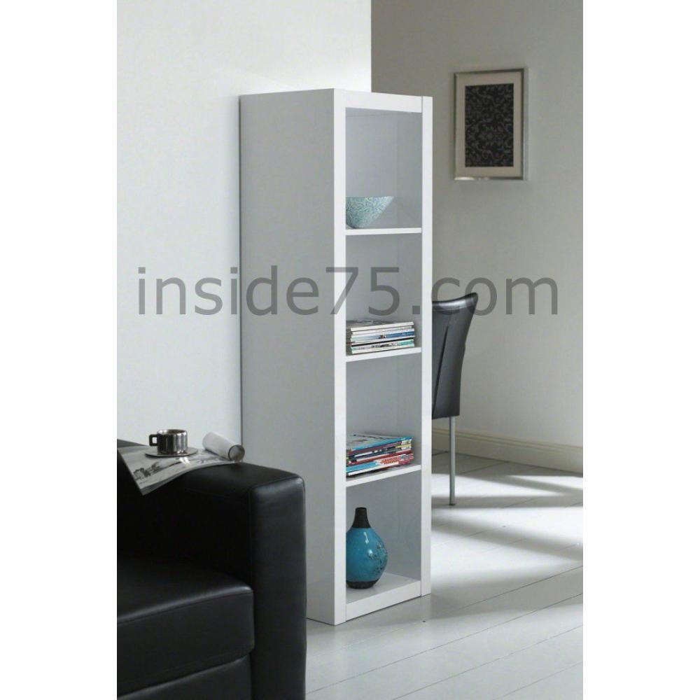 biblioth ques tag res meubles et rangements gloss bibliotheque etagere laque blanc design. Black Bedroom Furniture Sets. Home Design Ideas