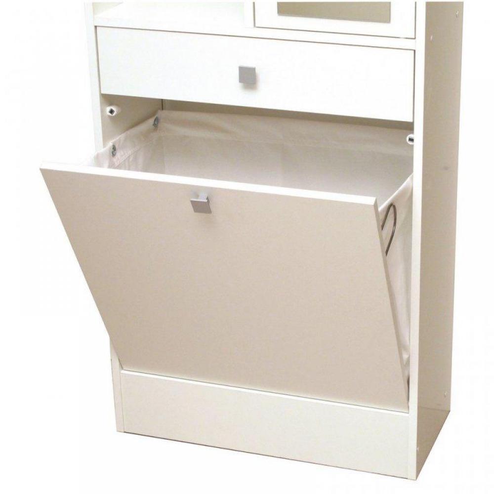 meubles salle de bain meubles et rangements armoire et bac linge blanc mat avec placards et. Black Bedroom Furniture Sets. Home Design Ideas
