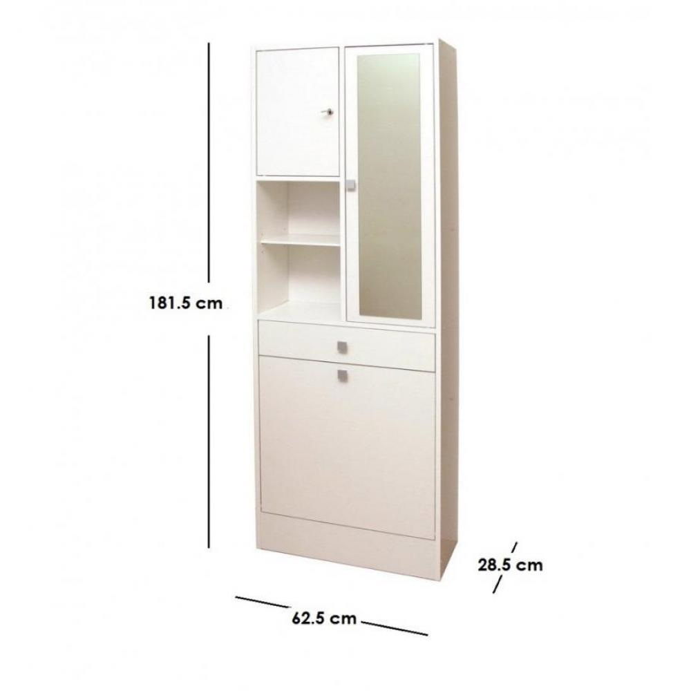 Meuble bac a linge 28 images meuble bas de salle de for Armoire salle de bain blanc