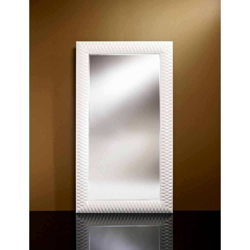 Miroirs Luminaires Hall Grand Miroir Mural Finition Blanche Inside75