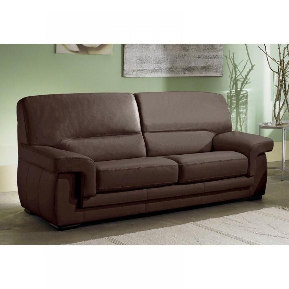 canap fixe confortable design au meilleur prix canap cuir 3 places helios inside75. Black Bedroom Furniture Sets. Home Design Ideas