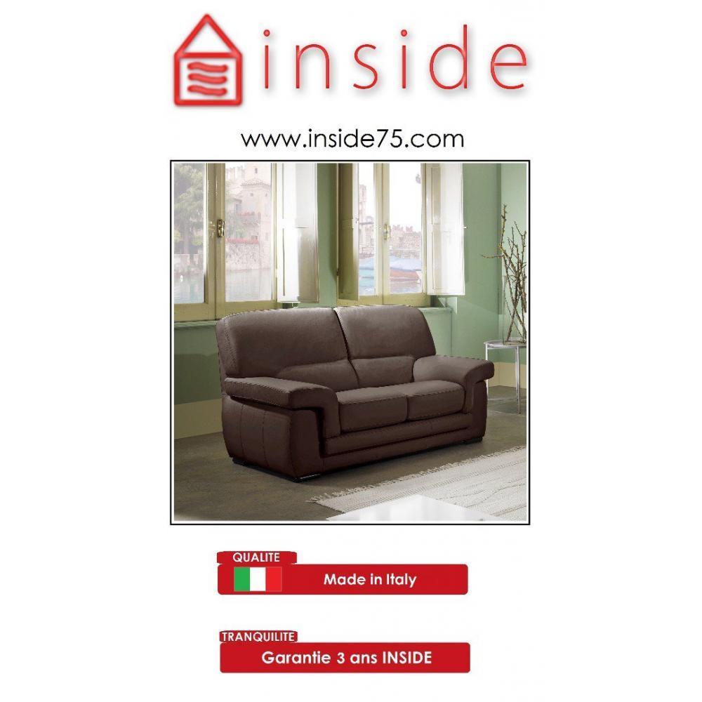 canap fixe confortable design au meilleur prix helios canap cuir 2 places inside75. Black Bedroom Furniture Sets. Home Design Ideas