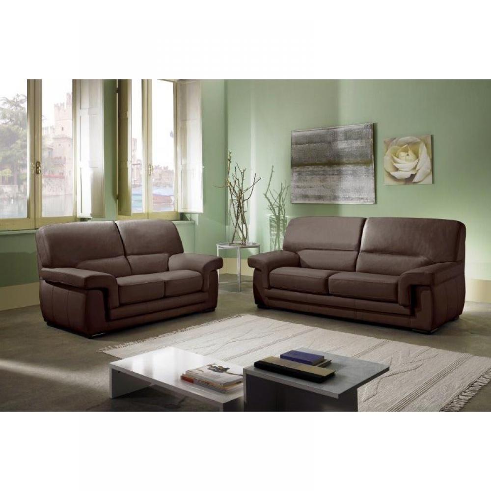 canap fixe confortable design au meilleur prix helios canap cuir 3 places inside75. Black Bedroom Furniture Sets. Home Design Ideas