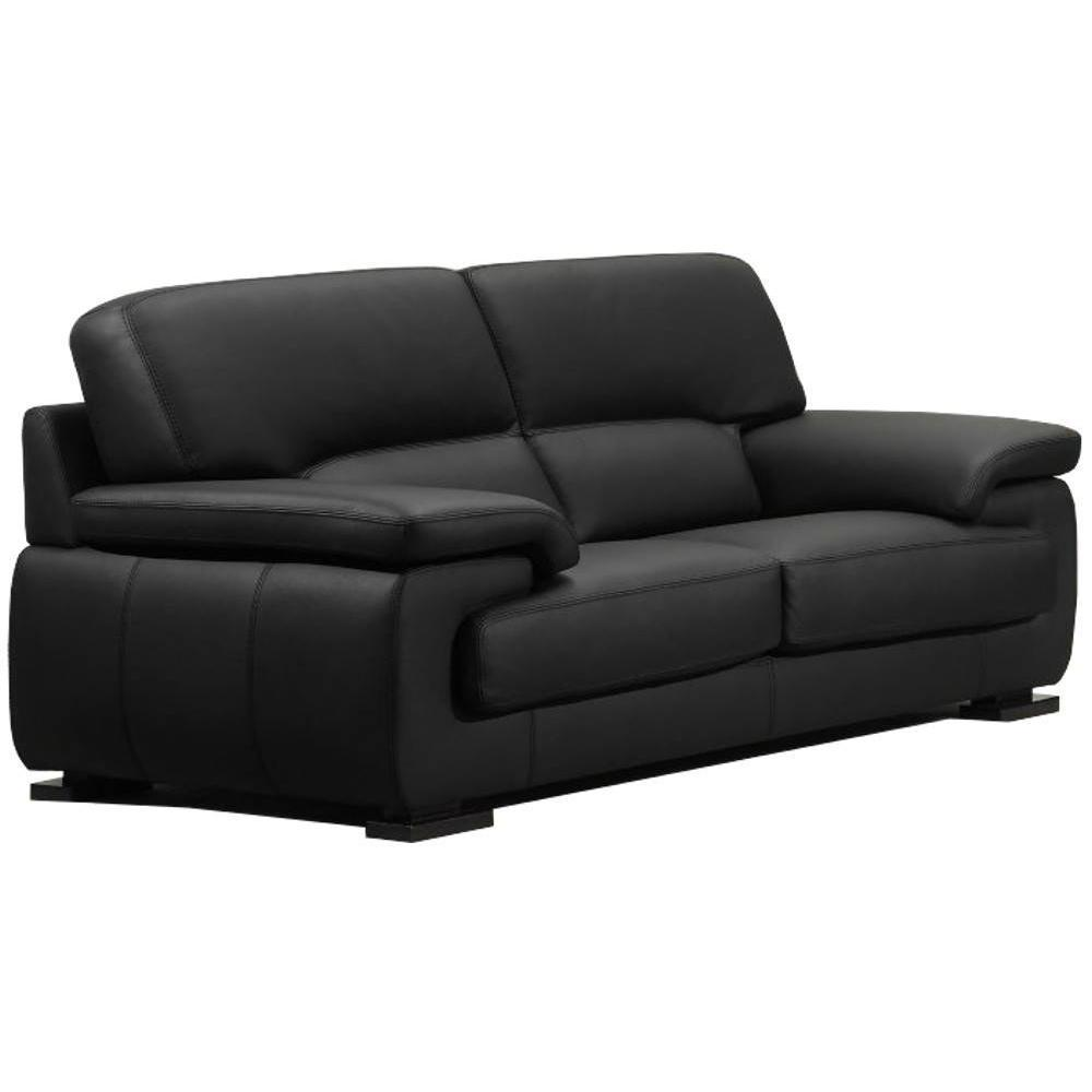 Canape cuir noir 2 places hoze home for Canape noir cuir