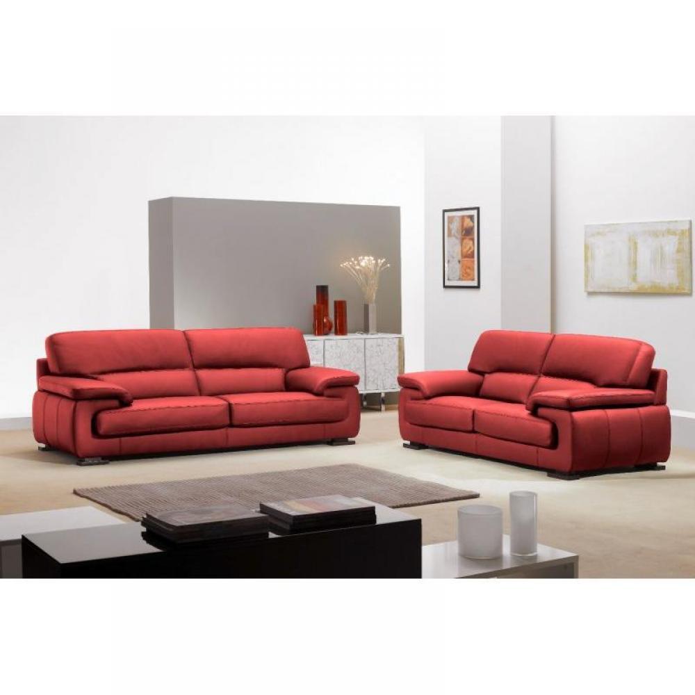 Canap fixe confortable design au meilleur prix hermes canap 2 places cuir bordeaux satin - Canape rouge bordeaux ...
