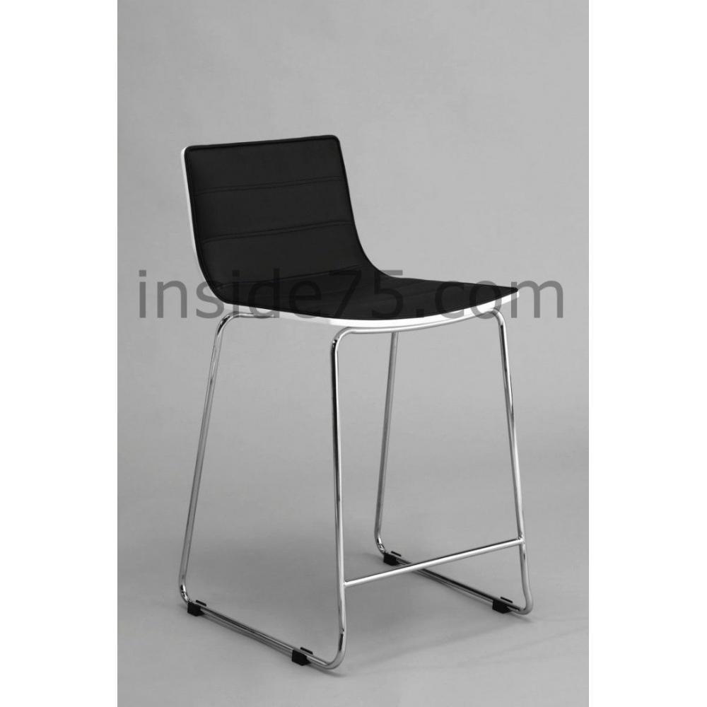 tabourets de bar meubles et rangements tabouret chaise de bar design high seat noire inside75. Black Bedroom Furniture Sets. Home Design Ideas