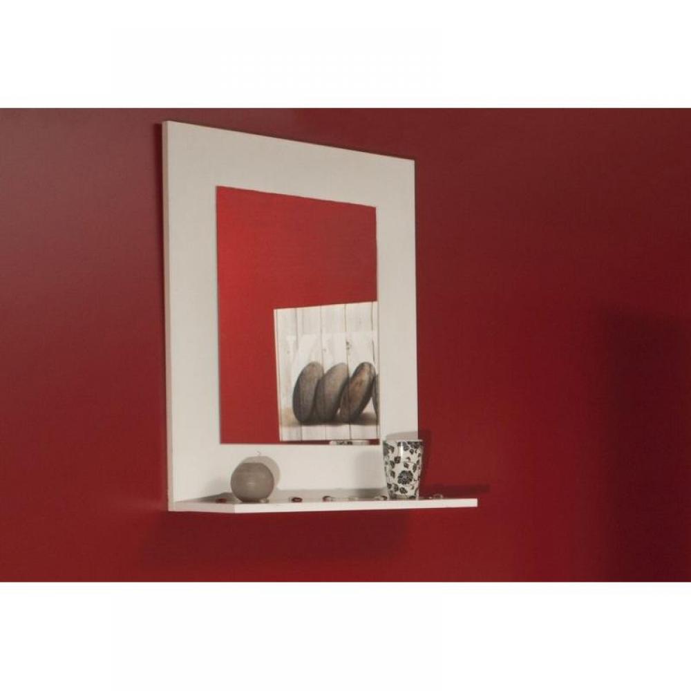Miroirs meubles et rangements image miroir mural design for Miroir blanc mural