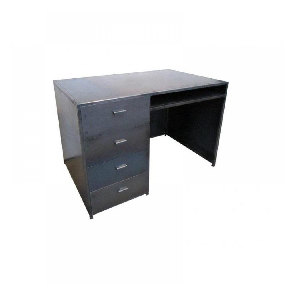 Bureaux meubles et rangements industry bureau ancien for Meuble bureau avec tiroirs