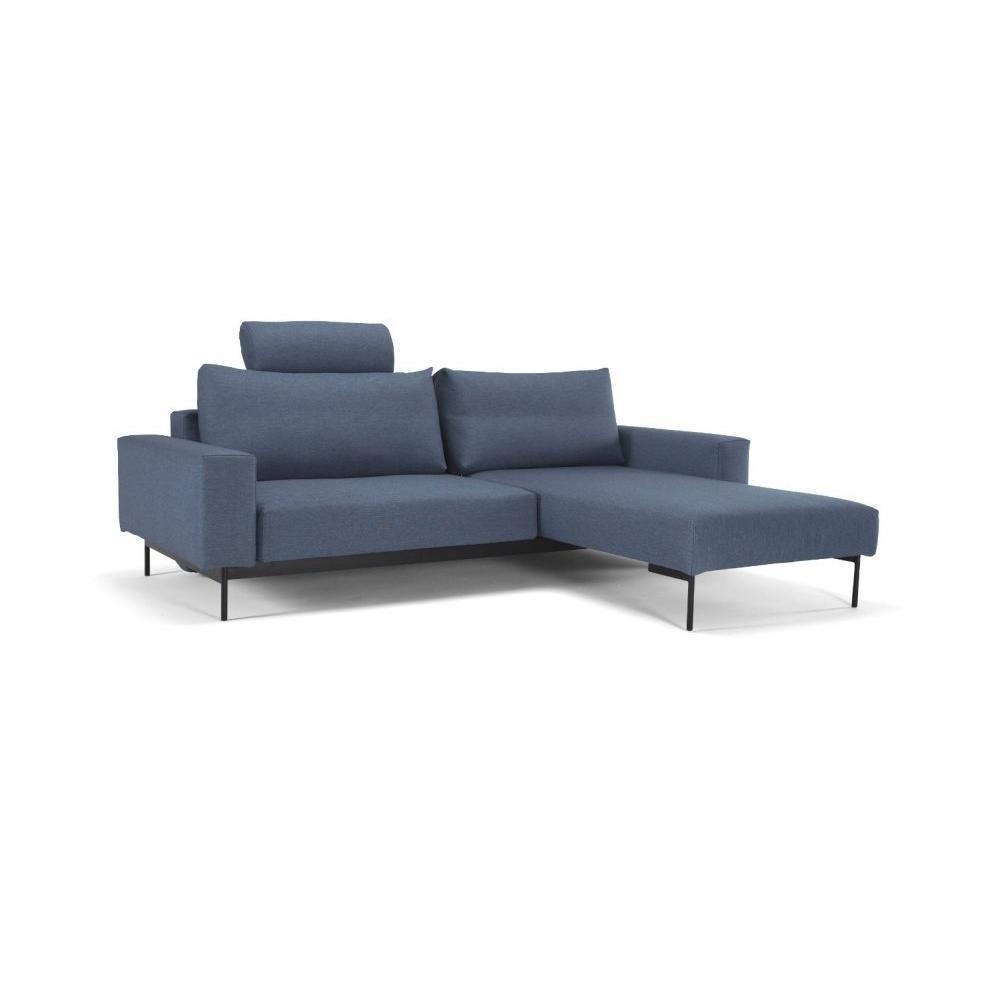 canap convertible au meilleur prix canap d 39 angle bragi bleu soft indigo convertible lit 200. Black Bedroom Furniture Sets. Home Design Ideas