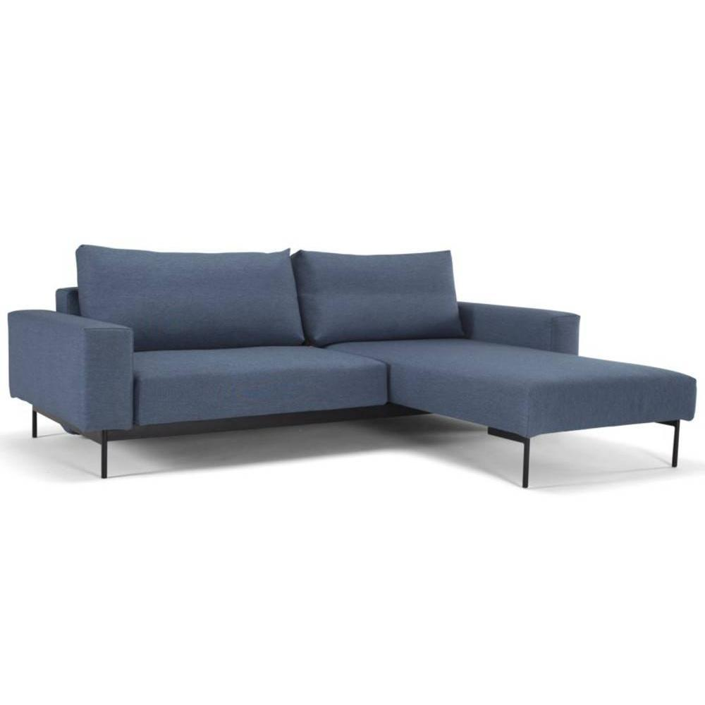canap d 39 angle bragi bleu soft indigo convertible lit 200. Black Bedroom Furniture Sets. Home Design Ideas