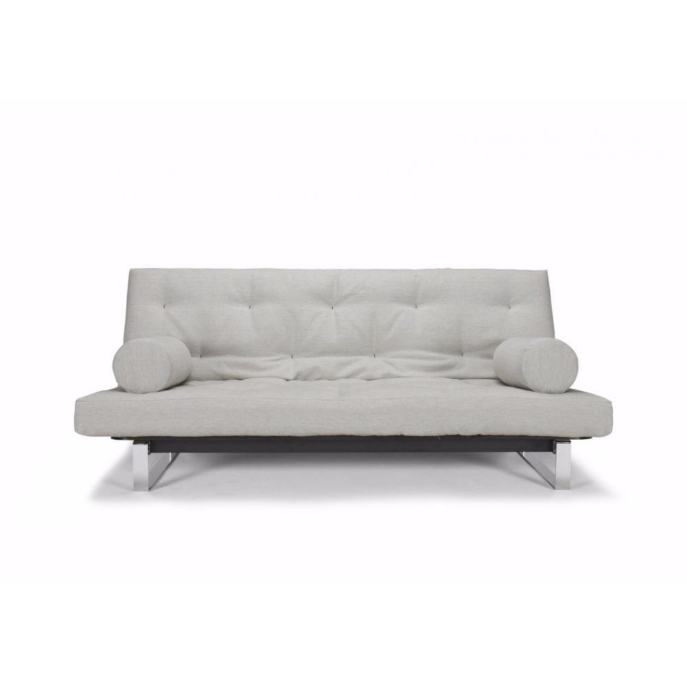 canap convertible au meilleur prix innovation living clic clac minimum capitonn beige. Black Bedroom Furniture Sets. Home Design Ideas