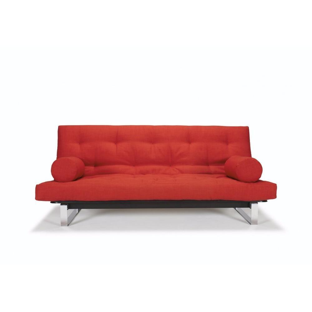 canap convertible au meilleur prix innovation living clic clac minimum capitonn rouge begnum. Black Bedroom Furniture Sets. Home Design Ideas